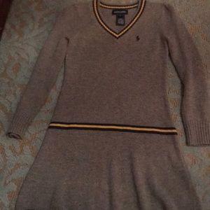 Gray Ralph Lauren sweater dress